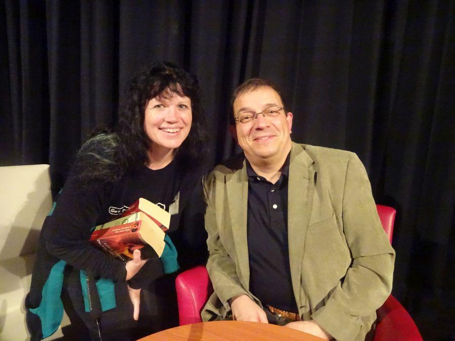 Sandra mit Andreas Eschbach