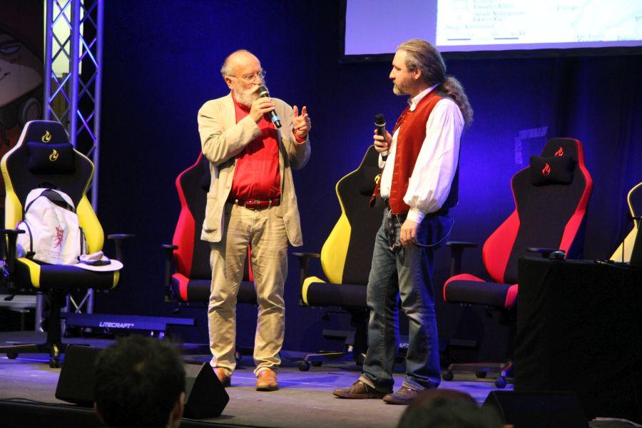 Tommy Krappweis und Professor Dr. Rudolf Simek auf der RPC in Köln Mai 2018