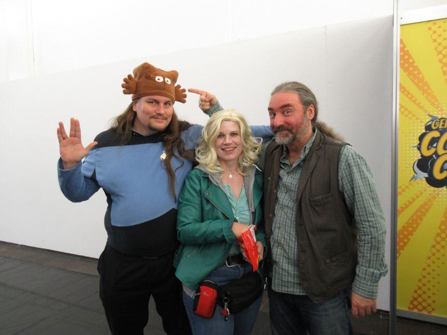 Florian, Sandra und Tommy Krappweis und Sandra auf der ComicCon München im MOC September 2018